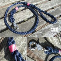 ROPE DOG LEAD - NAVY